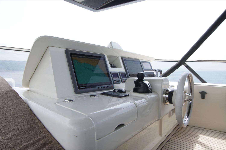 MCY 76 yacht for sale flybridge helm 1