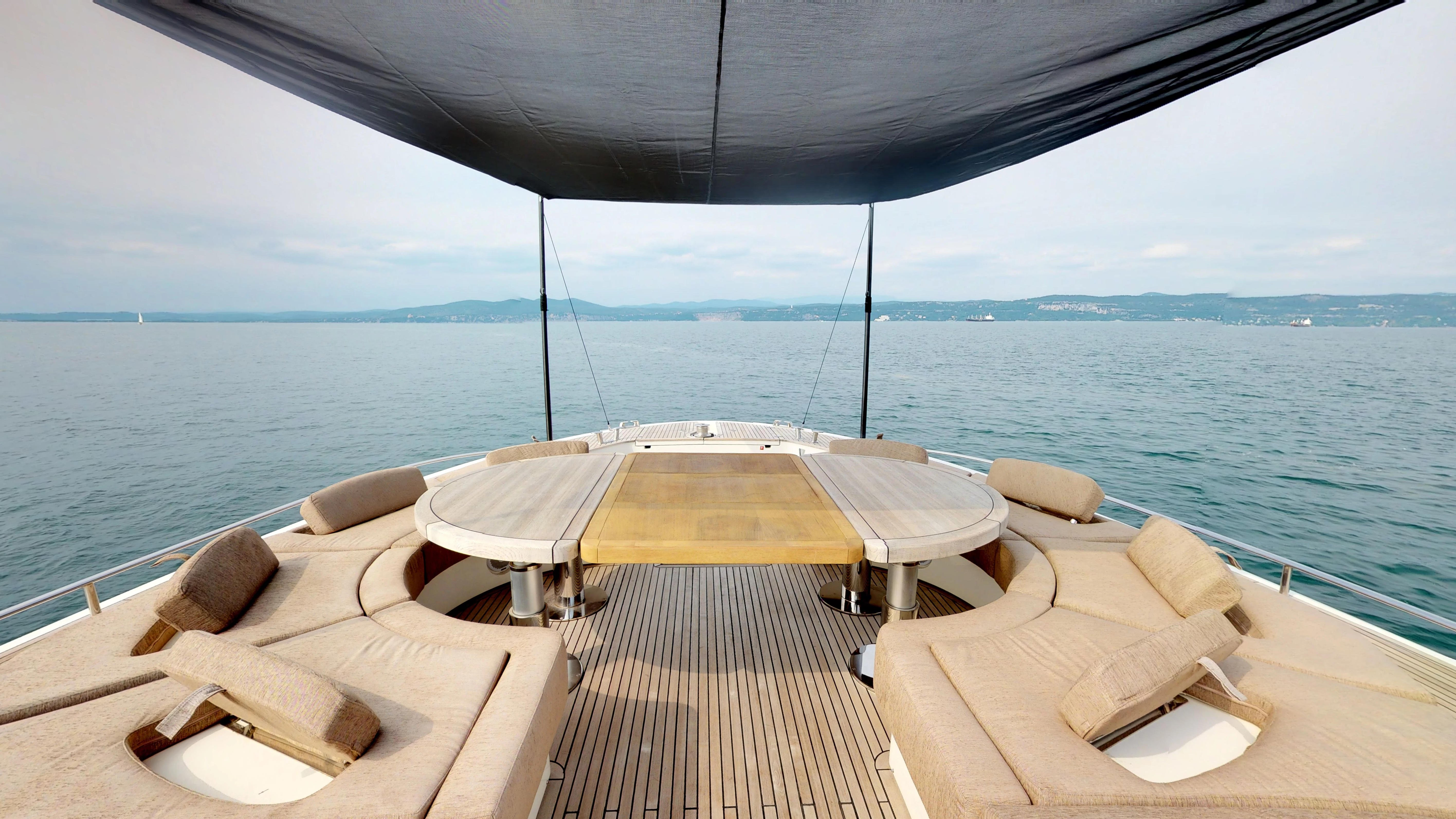 Monte Carlo 76 Yacht For Sale Bow Lounge