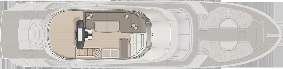 Monte Carlo 76 Yacht For Sale Flybridge Layout