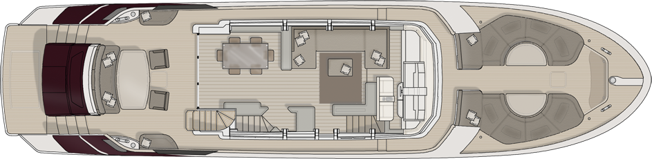 Monte Carlo 76 Yacht For Sale Layout Main