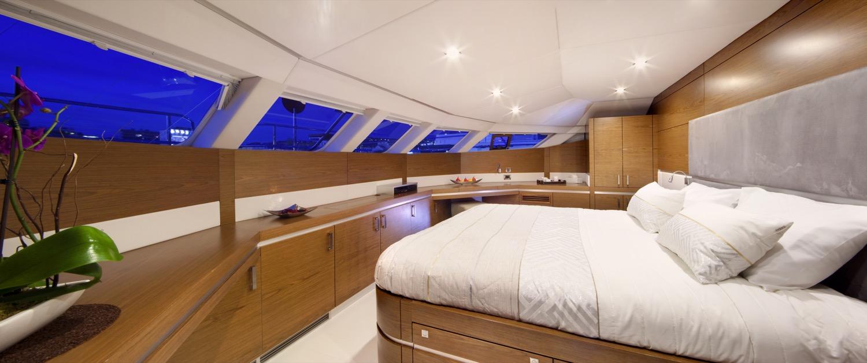sunreef 70 power yacht for sale master cabin 2