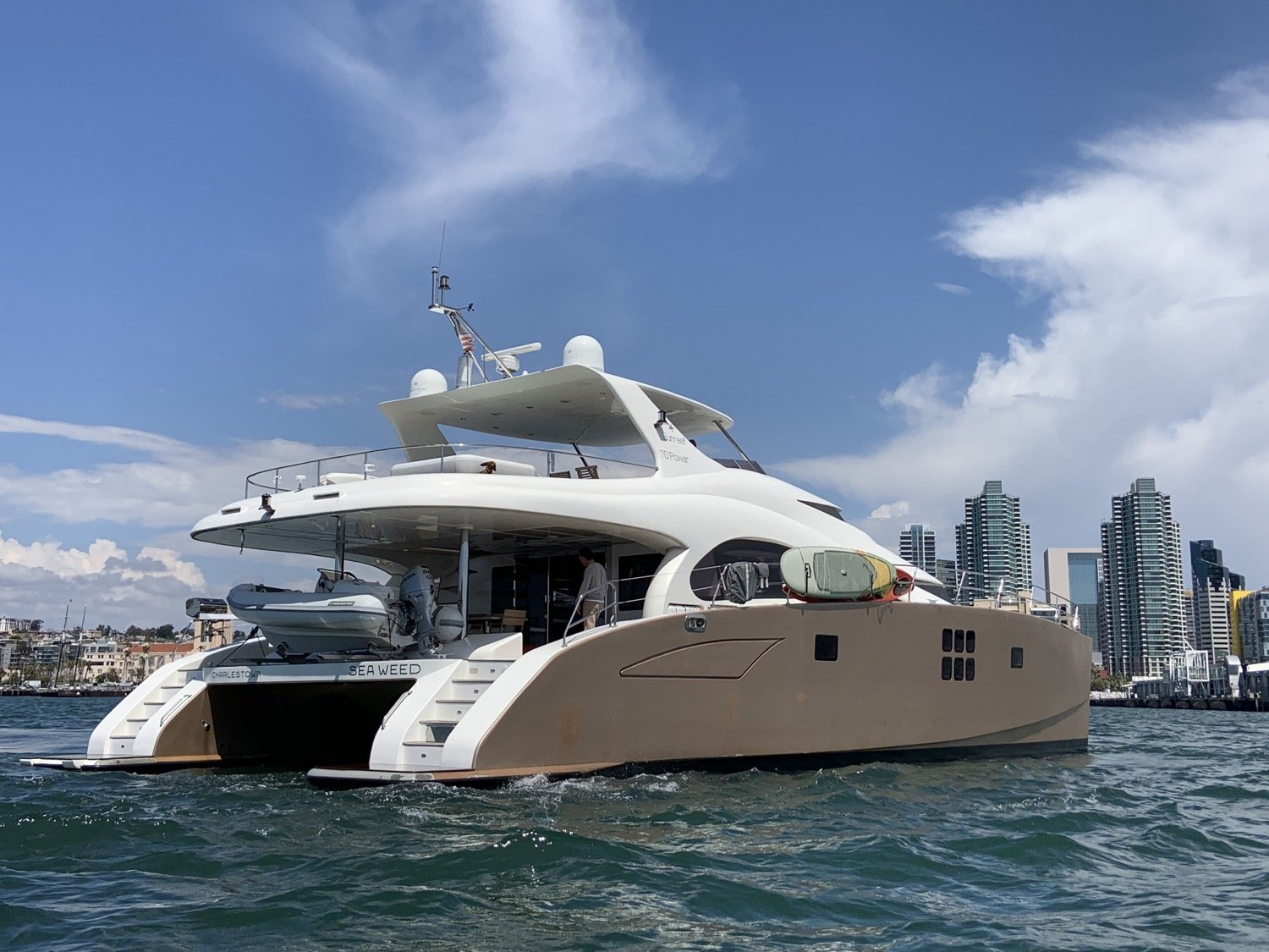 sunreef 70 power yacht for sale stern 1