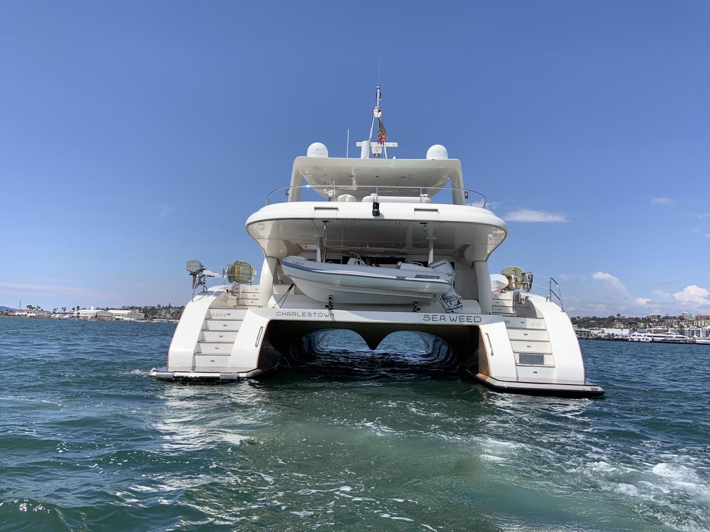 sunreef 70 power yacht for sale stern