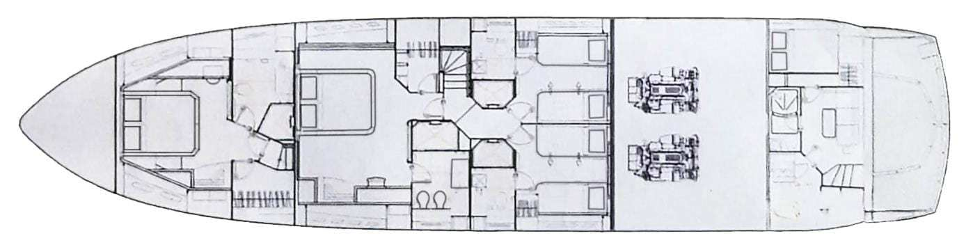 sunseeker 86 lower deck